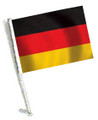 GERMANY Car Flag with Pole