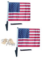 USA, United States, American, Flag SSP Motorcycle Flag with Sissybar or Trunk Style Pole