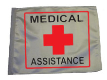 MEDICAL ASSISTANCE 11in x15 Replacement Flag for Motorcycle, Golf Cart and Car flag poles