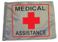MEDICAL ASSISTANCE 11in X 15in Flag with GROMMETS