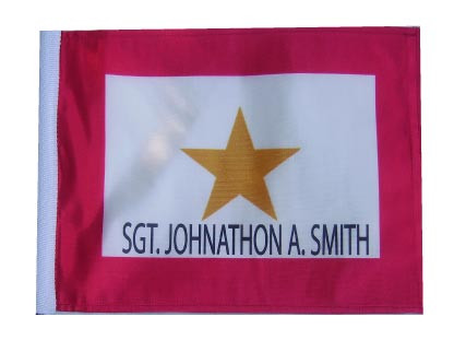 PERSONALIZED GOLD STAR 11in x 15in Flag with Options