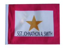 Personalized Gold Star Flag