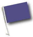 PURPLE Car Flag with Pole