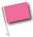 PINK Car Flag with Pole