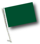 GREEN Car Flag with Pole