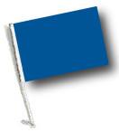 BLUE Car Flag with Pole