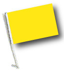 YELLOW Car Flag with Pole