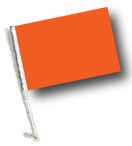 ORANGE Car Flag with Pole