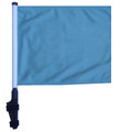 "SSP Flags LIGHT BLUE / SKY BLUE 11""x15"" Flag with Pole and EZ On Extended Straps Bracket"