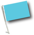 LIGHT BLUE / SKY BLUE Car Flag with Pole