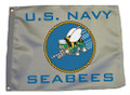 U.S. NAVY SEABEES 11in X 15in Flag with GROMMETS