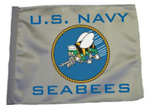 US Navy Seabees SSP Motorcycle Flag with Sissybar or Trunk Style Pole