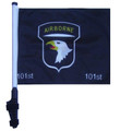 "SSP Flags 101st AIRBORNE 11""x15"" Flag with Pole and EZ On Extended Straps Bracket"