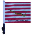 "SSP Flags FIRST NAVY JACK 11""x15"" Flag with Pole and EZ On Extended Straps Bracket"