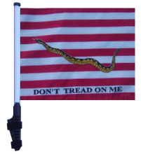 """SSP Flags FIRST NAVY JACK 11""""x15"""" Flag with Pole and EZ On Extended Straps Bracket"""