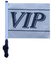 "SSP Flags VIP 11""x15"" Flag with Pole and EZ On Extended Straps Bracket"