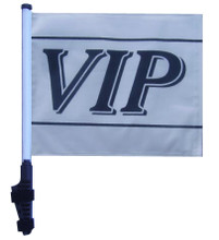 """SSP Flags VIP 11""""x15"""" Flag with Pole and EZ On Extended Straps Bracket"""