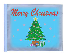 CHRISTMAS TREE FLAG - 11in.x15in.