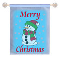 SNOWMAN CHRISTMAS WINDOW FLAG - 11in.x15in.