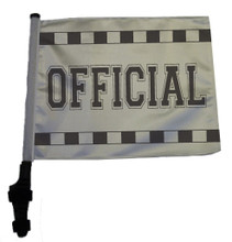 "SSP Flags OFFICIAL 11""x15"" Flag with Pole and EZ On Extended Straps Bracket"