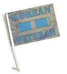 Korean Veteran Service Ribbon Car Flag with Pole