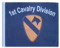 1ST CAVALRY DIVISION 11in x15 Replacement Flag for Motorcycle, Golf Cart and Car flag poles