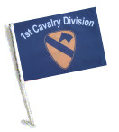 1st CAVALRY DIVISION Car Flag with Pole