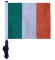 "SSP Flags IRELAND 11""x15"" Flag with Pole and EZ On Extended Straps Bracket"
