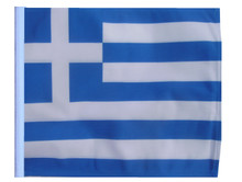 Greece SSP Motorcycle Flag with Sissybar or Trunk Style Pole