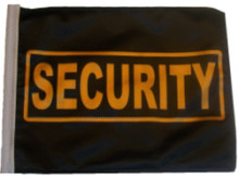 Security 11in x15 Replacement Flag for Motorcycle, Golf Cart and Car flag poles