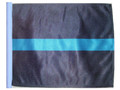 THIN BLUE LINE SSP Motorcycle Flag with Sissybar or Trunk Style Pole