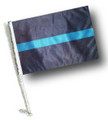 Thin Blue Line Flag - THIN BLUE LINE Car Flag with Pole