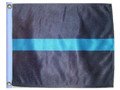 THIN BLUE LINE 11in X 15in Flag with GROMMETS
