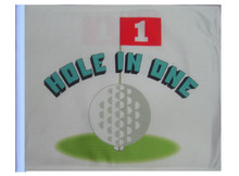 Hole in One Flag - 11in x15 Replacement Flag for Motorcycle, Golf Cart and Car flag poles