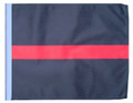THIN RED LINE SSP Motorcycle Flag with Sissybar or Trunk Style Pole