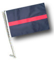 THIN RED LINE Car Flag with Pole