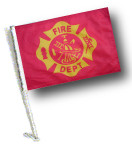 FIRE DEPT VINTAGE DESIGN FLAG - 11x15 inch