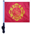 SSP Flags FIRE DEPT VINTAGE DESIGN Golf Cart Flag Brackets SSP Flags Golf Cart Flag Bracket and Pole