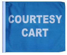 COURTESY CART 11in x15 Replacement Flag for Golf Cart flag poles