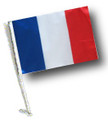 FRANCE Car Flag with Pole