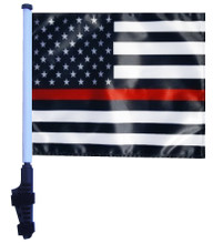 Thin Red Line USA Black and White Flag - 11in.x15in.