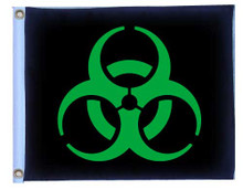 BIOHAZARD GREEN 11in X 15in Flag with GROMMETS