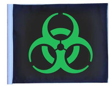 BIOHAZARD GREEN - Approx. Size 11in.x15in.