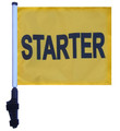 STARTER UTV Flag with SSP FLAGS EZ ON EXTENDED STRAPS BRACKET