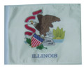 SSP Flags STATE of ILLINOIS Golf Cart Flag with SSP Flags Bracket and Pole