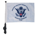 SSP Flags COAST GUARD Golf Cart Flag with SSP Flags Bracket and Pole