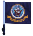 SSP Flags RETIRED NAVY Golf Cart Flag with SSP Flags Bracket and Pole