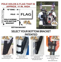 SSP Flags Golf Cart Brackets Options - SSPFlags.com