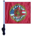 SSP Flags FIRE DEPT Golf Cart Flag with SSP Flags Bracket and Pole