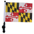 SSP Flags STATE of MARYLAND Golf Cart Flag with SSP Flags Bracket and Pole